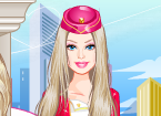 Play Barbie Flight Attendant at GirlGamey.Com