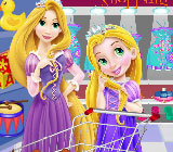 Baby Rapunzel And Mom Shopping